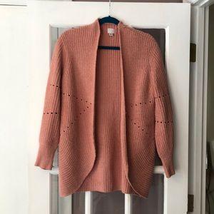 A New Day blush pink cardigan, size XS